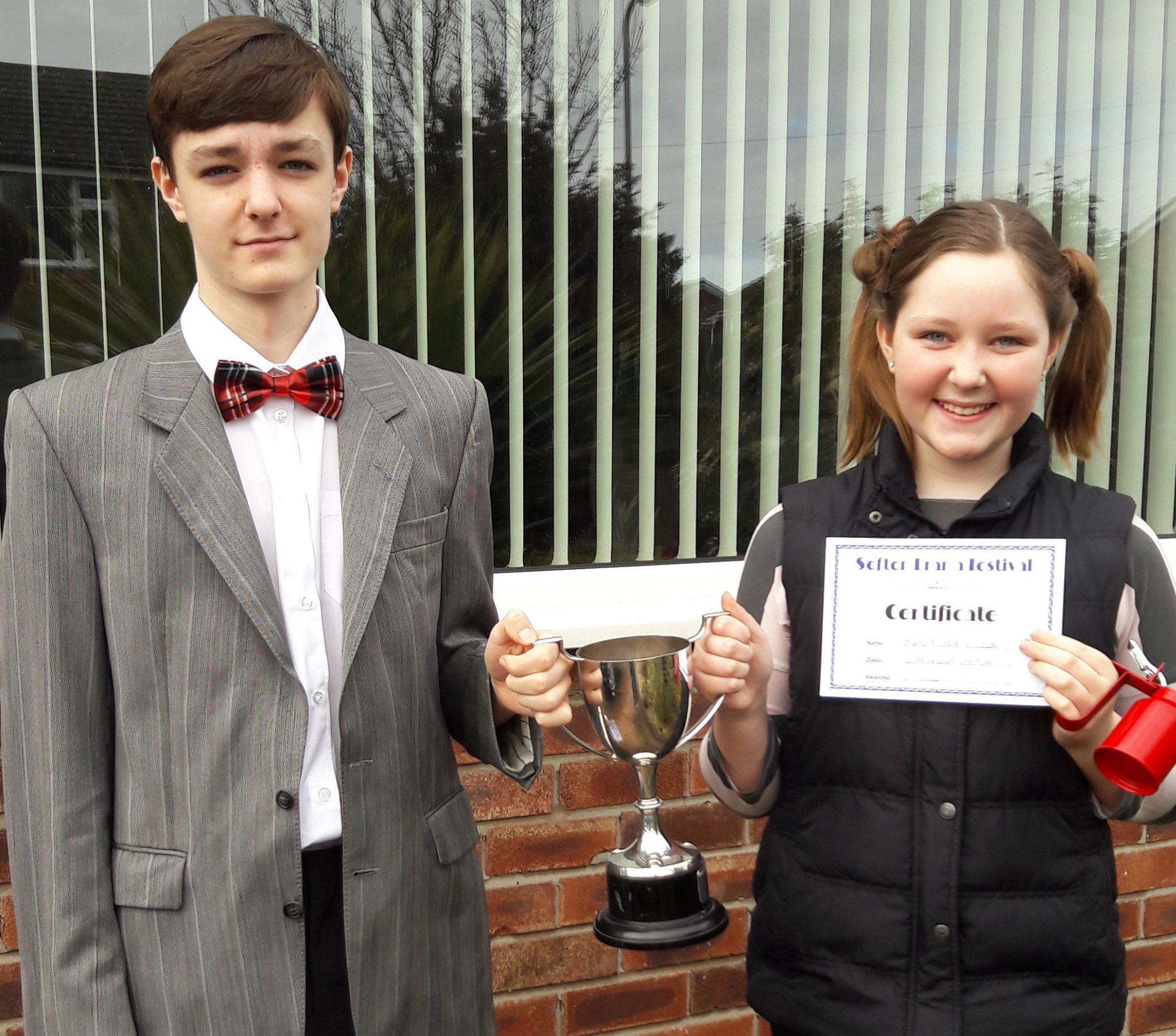 Intermediate Duologue winners Harry & Grace