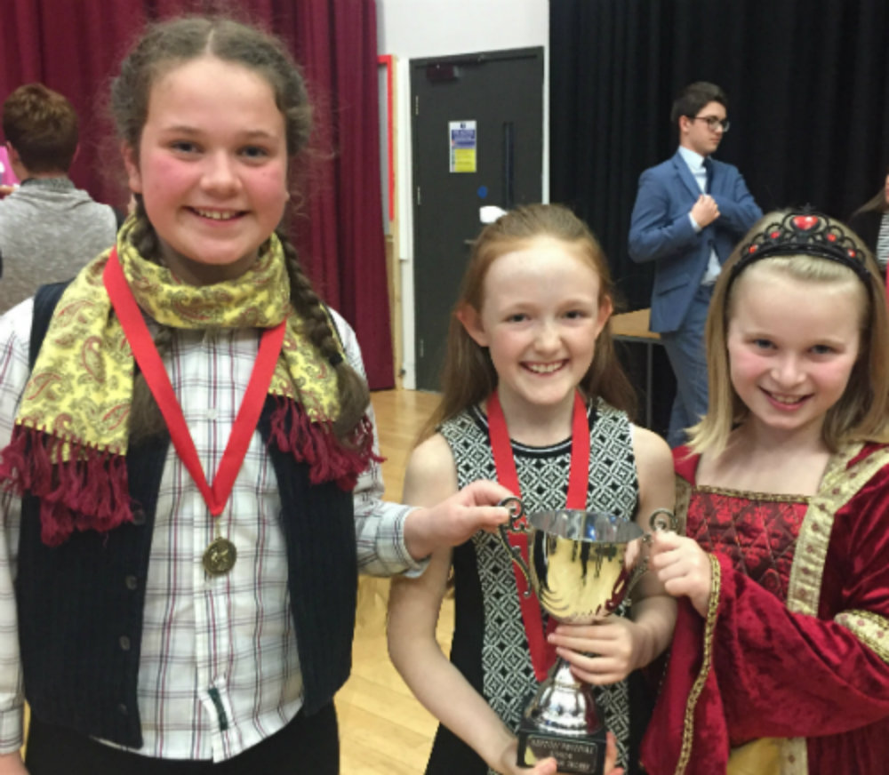 Junior Drama Challenge Winners Jasmine, Ellie & Evie