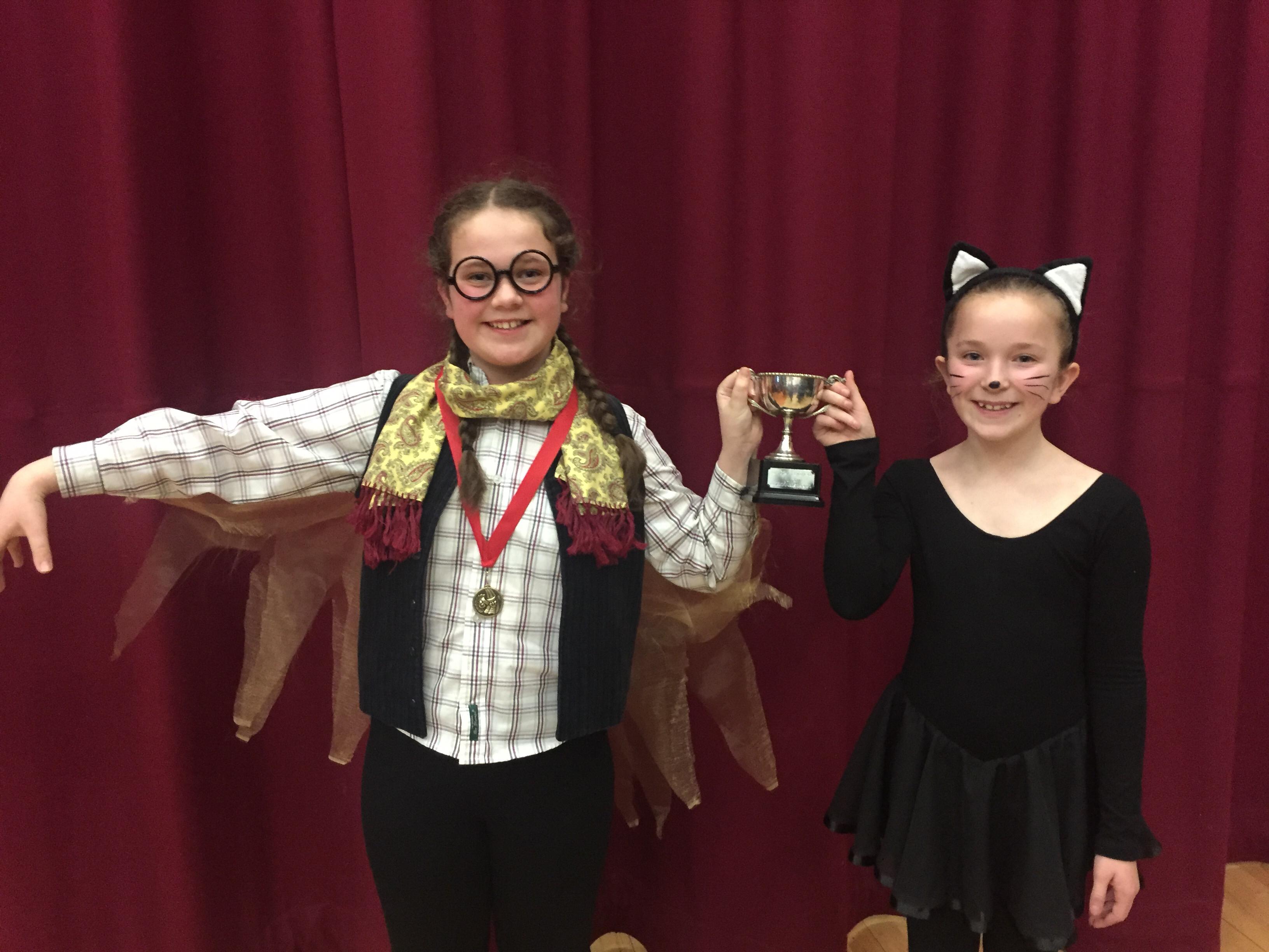 Junior Duologue winners Jasmine McElhinney & Hatty Hobbs